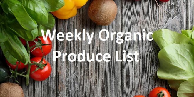 Weekly Organic Produce List